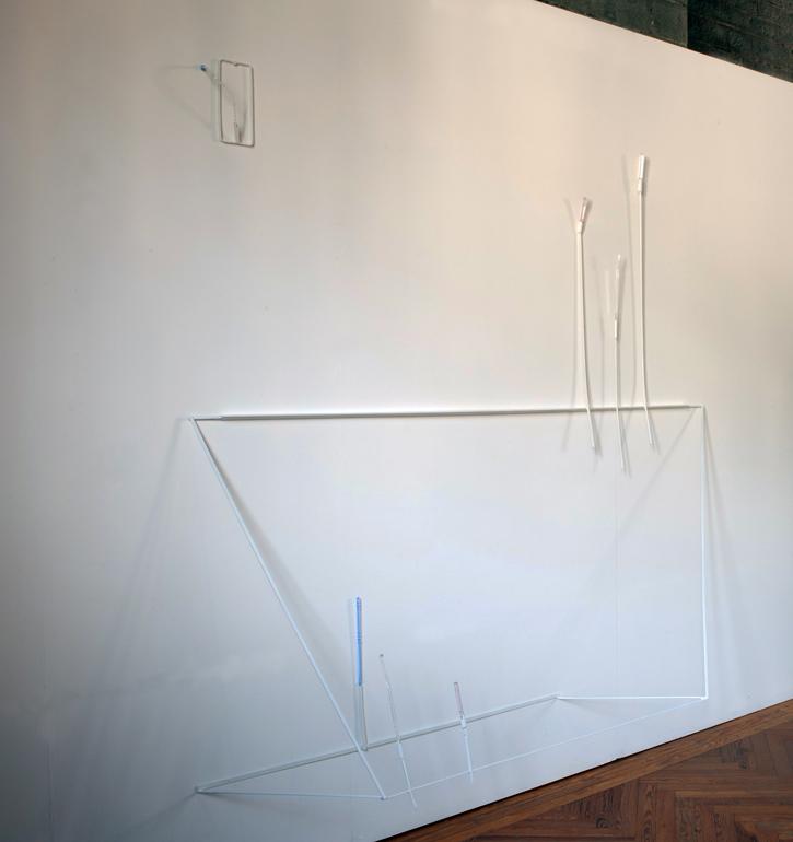 2013, ferro verniciato, plexiglas colorato e trattato, cm. 220 x 220 x 50 ca.