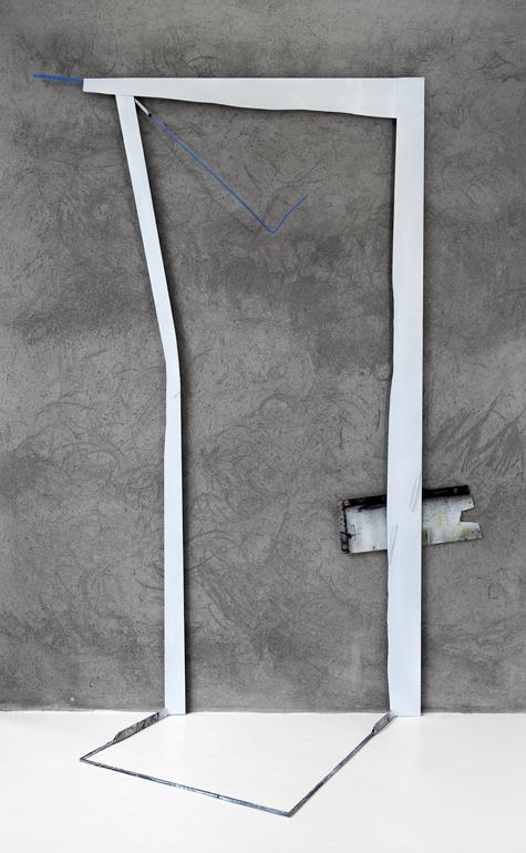 2015, ferro e acciaio inox verniciati, plexiglas trattato/colorato  cm. 240 x 170 x 76  ca.