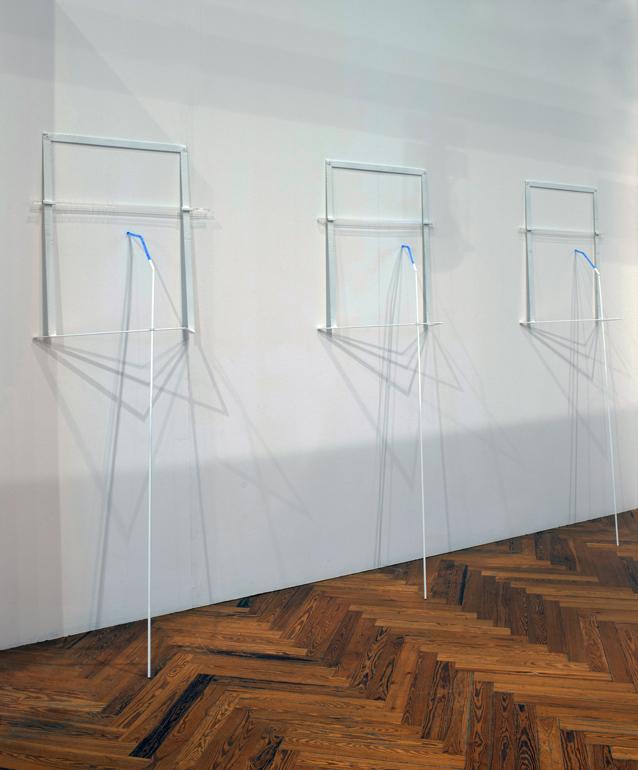 2014, ferro verniciato, plexiglas colorato, trattato, istallazione misure variabili (cm 200 x 70 x 40 ca. cadauno)